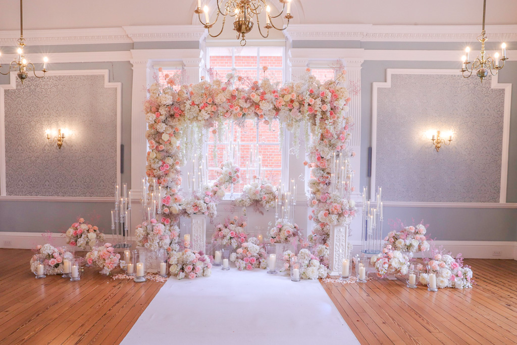 Micro Wedding Arch, Chelsea Town hall