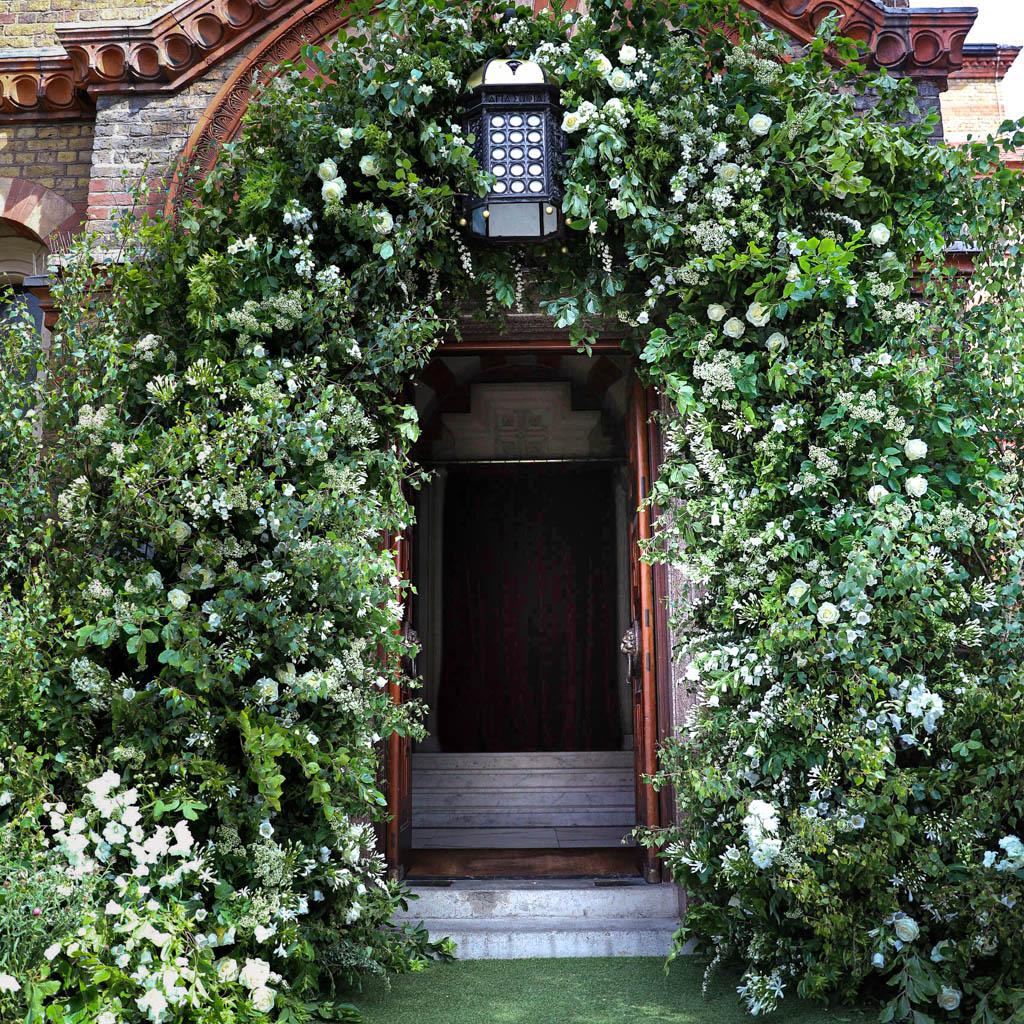 Church Wedding, Floral Arch