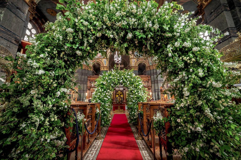 Greek Wedding Alter Decor Details