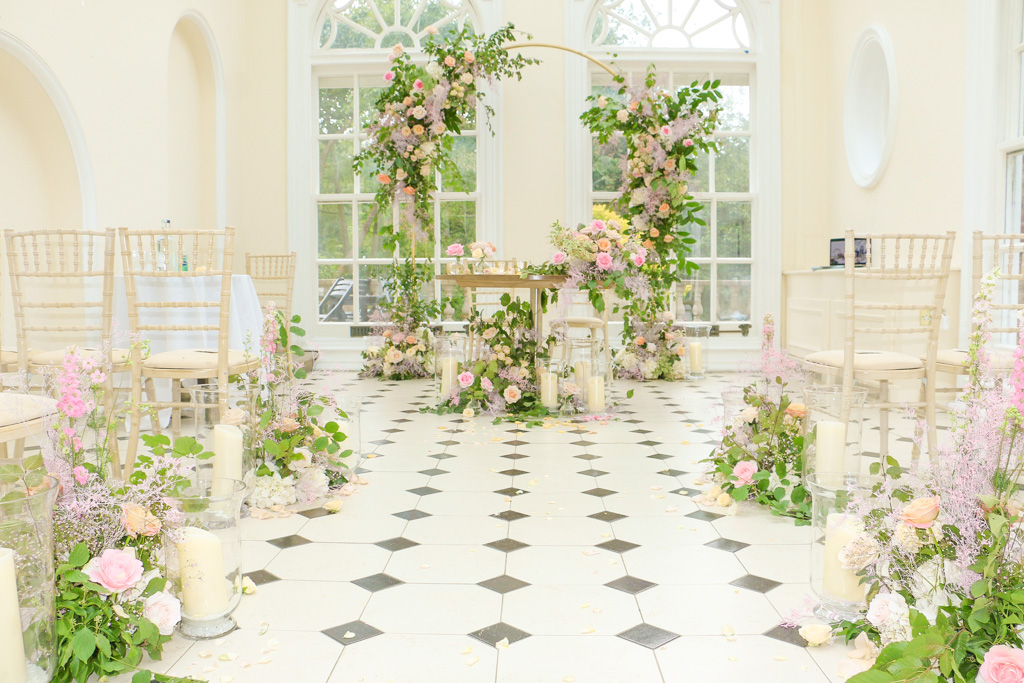Foral Arch for a Wedding