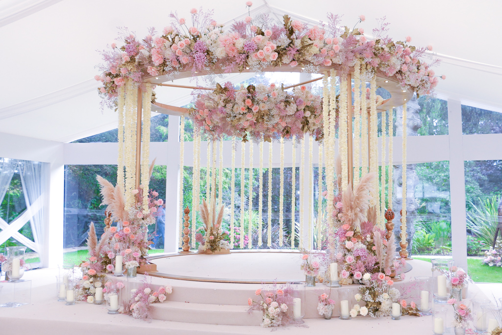 Floral Mandap for a Hindu Wedding