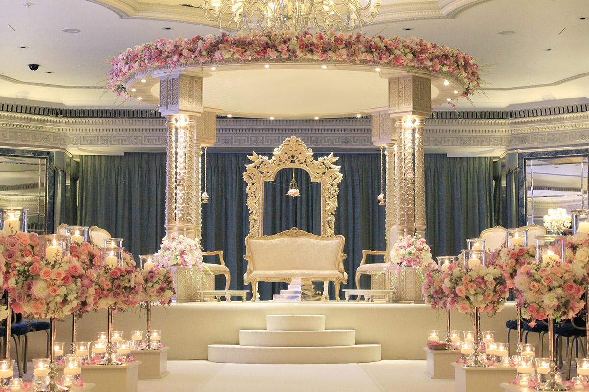 The Shreya 4 Pillar Mandap at The Dorchester Ballroom