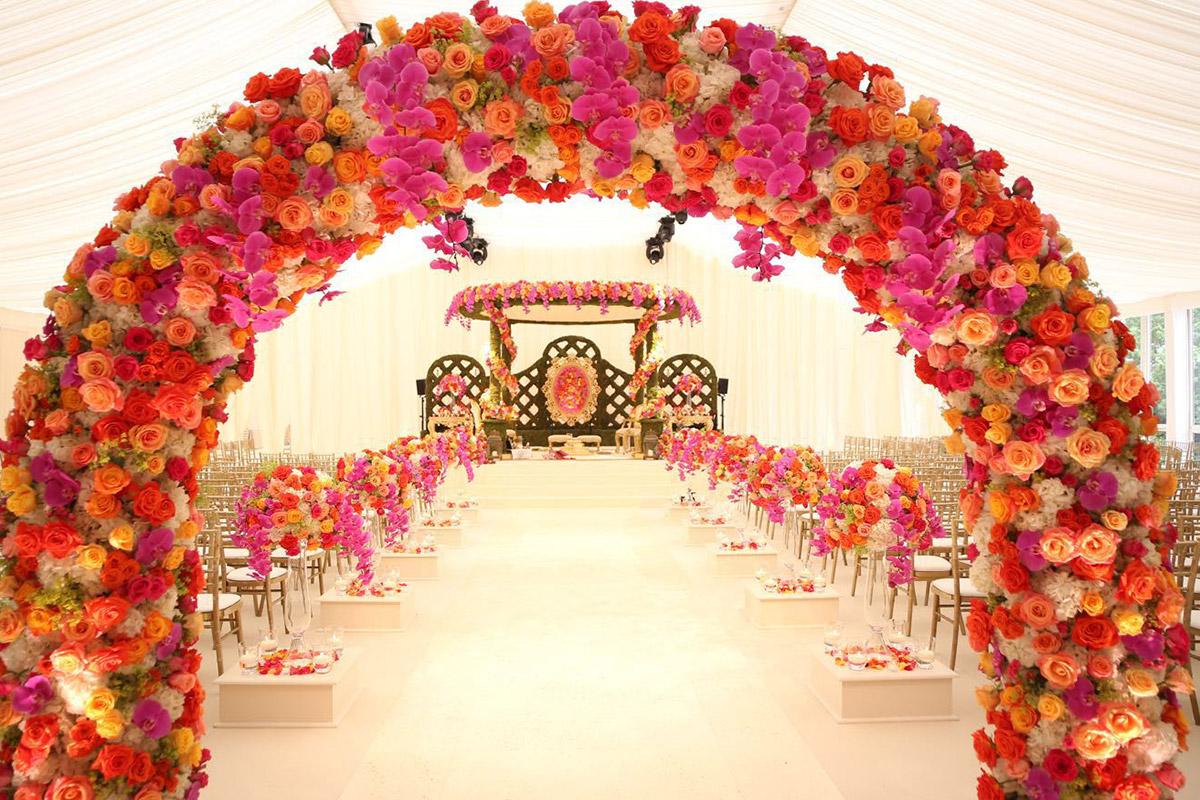 Nishali Mandap, Hindu Wedding Floral Arch