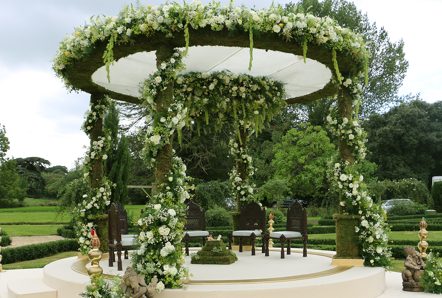 Floral and Foliage Nishali Mandap